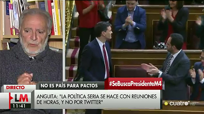 "Julio Anguita: ""Que la historia perdone a Felipe González""."