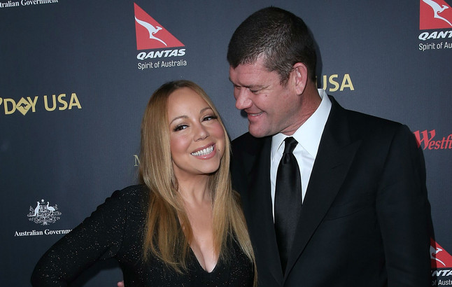 Mariah Carey presume de diamante de 35 quilates