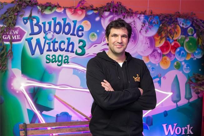 Oriol Canudas, responsable del estudio de King en Barcelona, creador del juego Bubble Witch 3 Saga.