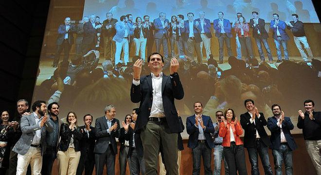 El líder de Ciudadanos, en la presentación de sus reformas para las elecciones del 20-D.