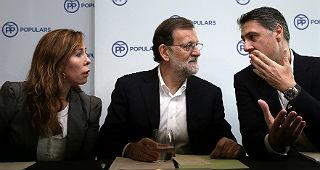 S�nchez Camacho, Rajoy y Garc�a Albiol, en Barcelona.