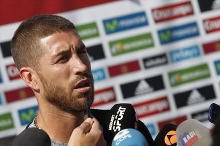 Sergio Ramos, ayer en Las Rozas.