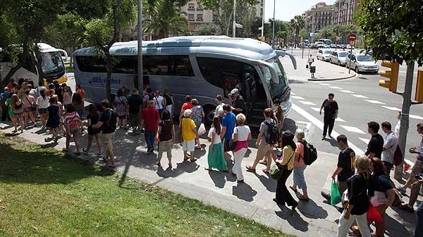 Veto a los buses en la Sagrada Famlia