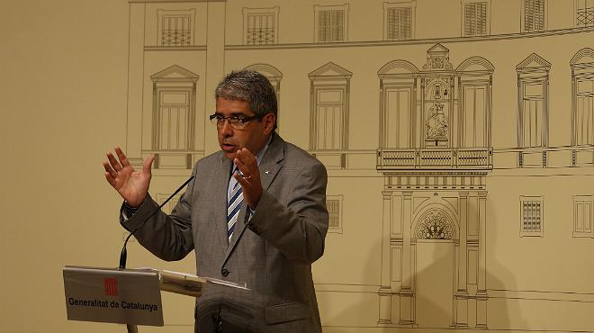 """El 'conseller' de Presid�ncia y portavoz del Govern, Francesc Homs, garantiza la """"fundamentaci�n jur�dica"""" necesaria para el 9-N"""