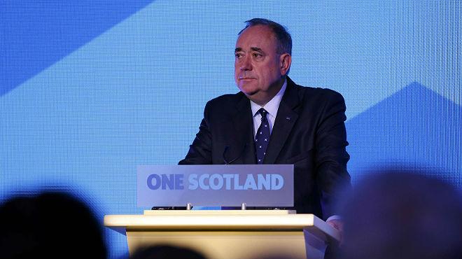 Alex Salmond comparece para valorar el resultado del refer�ndum de Escocia