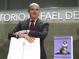 Luis de Guindos, esta semana en Madrid.
