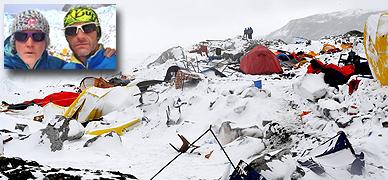 N�ria Picas y Ferran Latorre (foto peque�a) explican la situaci�n en el Himalaya tras el se�smo de Nepal