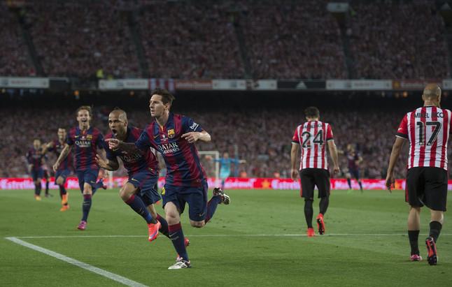 El gol de Messi en dibujos animados