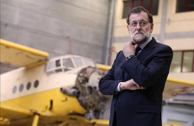 Mariano Rajoy, durante su visita a un centro de formación profesional de Madrid.