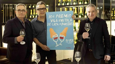 Buenafuente ilustra el cartel de la cata por parejas Vila Viniteca