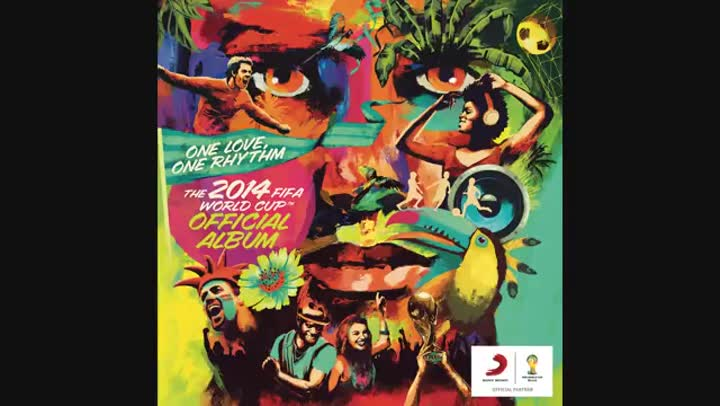Canción oficial del Mundial de Brasil 2014, 'We are one'.