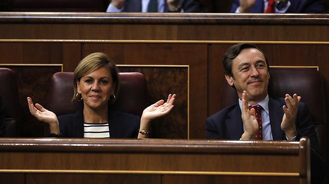"""Cospedal diu """"pocavergonya"""" a Pablo Iglesias"""