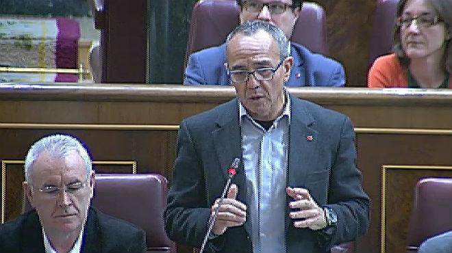 Joan Coscubiela, durante la sesión de control al Gobierno en el Congreso.