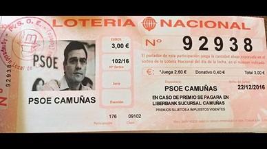 El PSOE d'un poble de Toledo ven Loteria de Nadal amb la foto de Pedro Sánchez