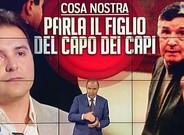 Imagen del programa de la RAI 'Porta a porta', programa que dirige y presenta Bruno Vespa, uno de los profesionales estrella de la tele estatal italiana.