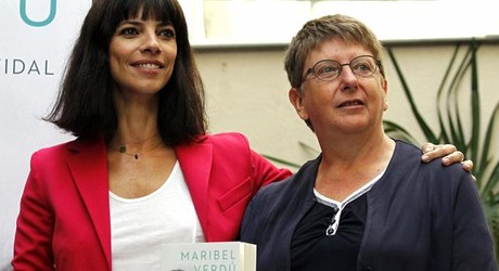 La actriz Maribel Verd, durante la presentacin de su biografa en Madrid.
