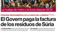 Portada de EL PERIDICO. 01-11-2012.