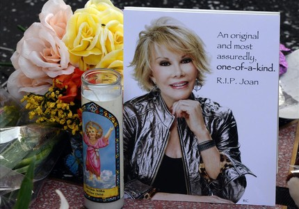Dedicatoria a Joan Rivers en el Paseo de la Fama, de Hollywood.
