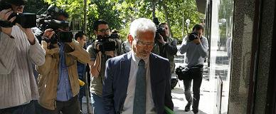 El juez Santiago Vidal, llegando a la Audiencia Nacional, el mayo pasado.