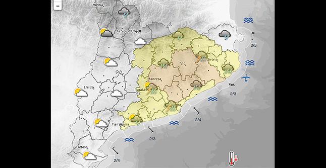Alerta inuncat por lluvias intensas en la catalunya central - El tiempo en el valles oriental ...