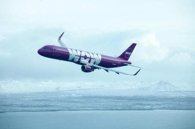 El airbus TF-GAY de WOW Air que operará entre Islandia y San Francisco.