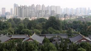 Vista de la ciudad de Xian.