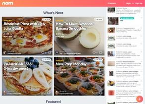 Nom, plataforma de recetas online.