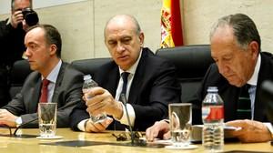 El ministro del Interior, Jorge Fernández Díaz, presidió la mesa de valoracion de la amenaza terrorista.