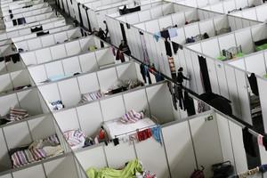 Centro de refugiados en Berlín.