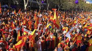 Vista de la marcha de Societat Civil Catalana.