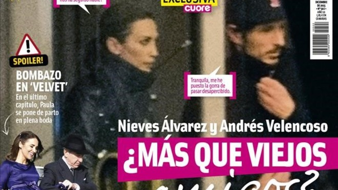 'Cuore' enxampa Andrés Velencoso i Nieves Álvarez junts