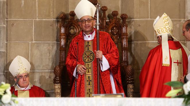 El arzobispo de Barcelona, Juan José Omella, en su toma de posesión, el pasado 26 de diciembre.