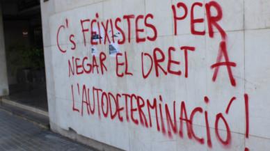 Ciutadans denuncia pintadas en su sede de Lleida