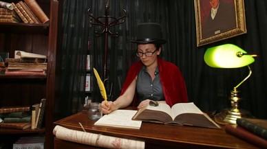 Un fan de Harry Potter, vestido para la ocasi�n, en la librer�a Waterstones de Piccadilly, en Londres, celebrando el lanzamiento mundial del nuevo libro de la saga.