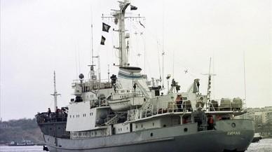 Imagen de archivo de la fragata de reconocimiento Liman, de la Armada rusa.