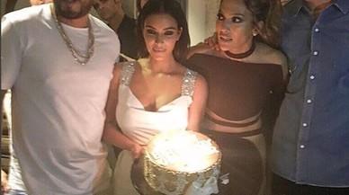 Jennifer Lopez celebra sus 47 a�os con Kim Kardashian, Calvin Harris, Cristiano Ronaldo e Iggy Azalea.