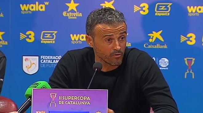 """Luis Enrique, irònic: """"Crec que estic entre els 20 millors de la Lliga"""""""