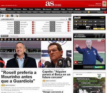 La entrevista con Cruyff de EL PERI�DICO abre las portadas digitales de la prensa deportiva