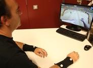 Sistema de rehabilitaci�n de pacientes con ictus usando sensores en el antebrazo.