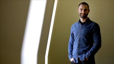 El actor y mologuista malagueño Dani Rovira, este miércoles, en la sede madrileña de la Academia de Cine.