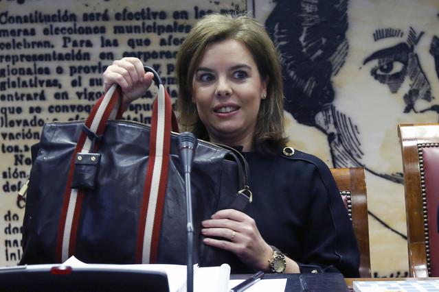 La vicepresidenta reh�sa sacar a Franco del Valle de los Ca�dos