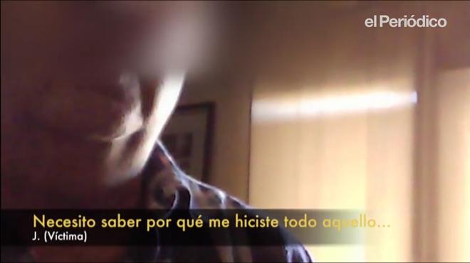 J, víctima de abusos continuados, graba acon cámara oculta y entrevista a su exprofesor Marista A.F.