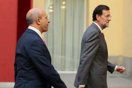 Jos Ignacio Wert y Mariano Rajoy, el pasado octubre, durante una reunin del Patronato del Instituto Cervantes. 