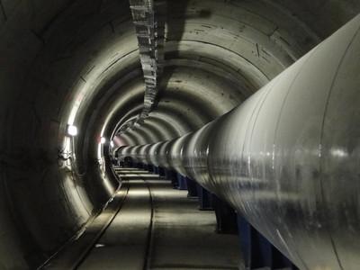 Conducción de agua de Trinitat-Fontsanta, gestionada por Aigües Ter Llobregat.