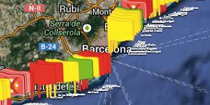 El estado de las playas de Catalunya, al minuto