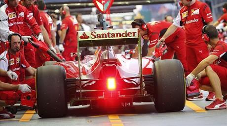 Alonso, en los primeros ensayos del Gran Premio de F�rmula-1 en Singapur.