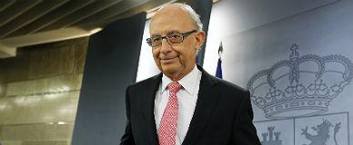 El ministro de Hacienda, Crist�bal Montoro, en rueda de prensa en Madrid.