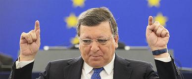 Barroso, el presidente saliente de la Comisi�n Europea, este martes.