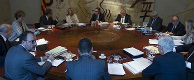 Reuni�n del Consell Executiu, el pasado octubre.