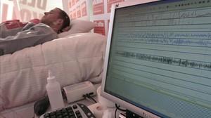 un paciente con trastorno del sueño